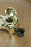 Antique Brass Twin Inkstand by William Tonks & Sons Neoclassical Style Inkwell (5 of 8)