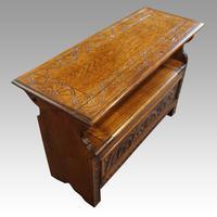 Edwardian Oak Monks Bench (3 of 5)