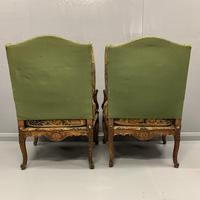 Pair of French Wing Armchairs (3 of 9)