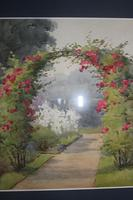Antique Original Watercolour - Rose Arch - Mary Sophia Godlee '1860-1932' (2 of 5)