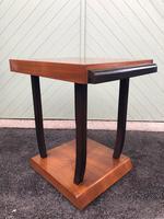 Art Deco Walnut & Ebonised Table (6 of 9)