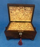 Regency Sarcophagus Rosewood Jewellery Box (10 of 15)
