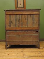 Antique Country Oak Chest of Drawers, 18th Century Chest in 2 Parts (14 of 17)