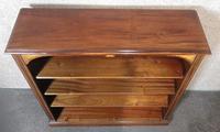 Edwardian Inlaid Mahogany Open Bookcase (9 of 10)