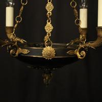 French Gilded Bronze Empire 4 Light Chandelier (5 of 10)