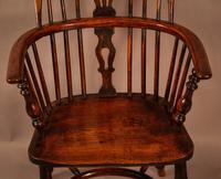 Ash & Elm Windsor Chair Stamped F Walker Rockley (5 of 10)