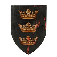 Six Edwardian Heraldic Shield Plaques (7 of 8)