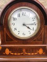 Edwardian Inlaid Mahogany Mantle Clock (4 of 6)