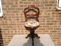 Victorian Rosewood Music Chair