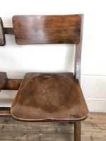 Antique Victorian Elm Four Seater Bench (M-717) (2 of 12)