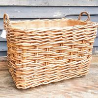 Large Wicker Log Basket on Wheels (3 of 6)