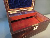 Superb Victorian Rosewood Fitted Jewellery Box (9 of 9)