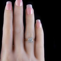 Art Deco Diamond Cluster Ring 18ct Gold Platinum Circa 1920 (2 of 6)