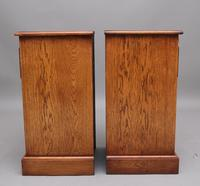 Pair of Mid 20th Century Burr Oak Bedside Chests (8 of 11)