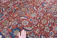 Antique Heriz square carpet 383x311cm (5 of 9)