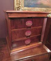 Antique Walnut Three Drawer Filing Cabinet (4 of 8)