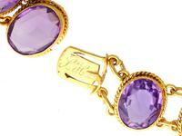 274.91ct Amethyst & 18ct Yellow Gold Rivière Necklace - Antique Victorian (8 of 12)