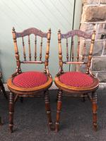 Antique Set 4 Kitchen Chairs (10 of 10)