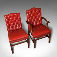 Set Of 10 Antique Gainsborough Chairs, English, Leather, Carver, Edwardian, 1910 (9 of 12)
