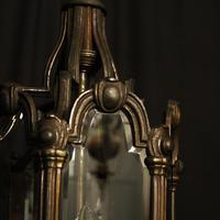 French Bronze Triple Light Antique Hall Lantern (3 of 10)