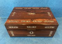 William IV Mother Pearl Inlaid Rosewood Box