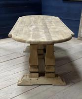 Huge French Bleached Oak Monastery Dining Table (27 of 30)