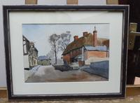 Watercolour and ink Dedham Listed artist Ronald Birch (5 of 10)