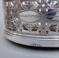 Fabulous Pair of Victorian Sterling Silver Wine Coasters by Thomas Bradbury & Sons, London 1898 (7 of 8)