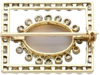 2.23ct Opal & 0.82ct Diamond, 9ct Yellow Gold Brooch - Antique c.1900 (5 of 9)