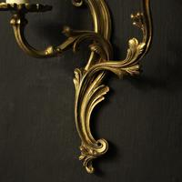 French Pair Of Gilded Twin Arm Wall Lights Oka04080 (6 of 10)