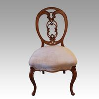 Set of 4 Victorian Walnut Dining Chairs (4 of 6)
