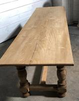 French large oak farmhouse dining table (7 of 38)
