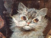 "Victorian Louis Wain Print ""Bachelors Party"" c.1896 Advert for Capstan Cigarettes (7 of 13)"
