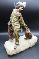 Fine Late 19th Century of Native American Bear Hunter by Carl Kauba (5 of 5)