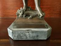 Fine Large 19th Century Antique Solid Bronze Cherub Sculpture Statue Figurine (8 of 13)