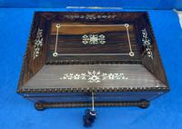 William IV Rosewood Sarcophagus Box with Inlay (3 of 13)