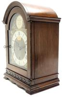 Superb Mahogany Arch Top Mantel Clock Westminster Musical Bracket Clock by Dent London (6 of 10)