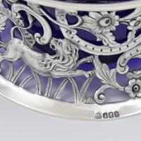 Large Victorian Irish Silver Dish 'Potato' Ring Wakely & Wheeler Wild Animals (15 of 18)