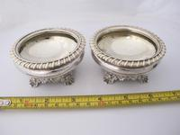 Beautiful Pair of George IV Silver Salts Rebecca Emes & Edward Barnard London 1821 (6 of 6)