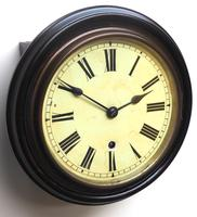 Rare W&H 7 Inch Dial Wall Clock Ebonised Case Dial Clock Station Clock (3 of 12)
