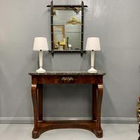 French Empire Marble Top Console Table (2 of 7)