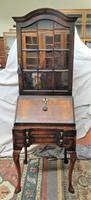 Walnut Bureau Bookcase c.1920 (2 of 7)