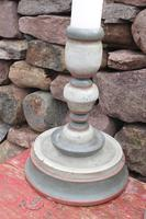 Pair of Swedish 'Folk Art' Large Over-sized Wooden Painted Candlesticks 20th Century (14 of 17)