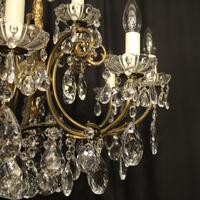 Italian Gilded 12 Light Antique Chandelier (7 of 8)