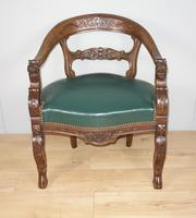 Carved Oak Victorian Desk Chair (6 of 9)