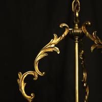 French Gilt Bronze Convex Antique Hall Lantern (4 of 10)