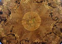 Victorian Walnut Marquetry Inlaid Circular Table (4 of 15)