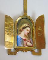 Antique Porcelain Plaque Portrait Miniature of the Madonna (4 of 6)