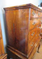 George I Period Figured Walnut Chest on Stand (9 of 12)