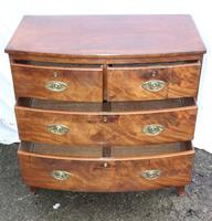 1900's Mahogany 4 Drawer Bow Chest Drawers just Polished (4 of 5)